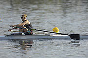 Hazenwinkel, BELGIUM,  Elise LAVERICK,  in the last stroke of the morning time trial, at the GB Rowing Senior Trials, on Sun,15.04.2007  [Credit, Peter Spurrier/Intersport-images]   [Mandatory Credit, Peter Spurier/ Intersport Images]. , Rowing Course, Bloso, Hazewinkel. BELGUIM