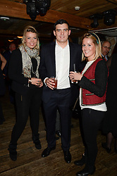 Left to right, ANTONIA KENNING, THOMAS SPENCER and RACHEL GRIFFITHS at 'Bodo's Schloss Goes Wild For Lewa' held at Bodo's Schloss, 2A Kensington High St, London W8 on 9th October 2013.