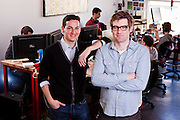 Georges Duverger, designer/developer and Chis Dixon, co-founder of Hunch at theri offices in New York. Hunch helps web users  make and discover great recommendations that are customized to their tastes. The company's mission is to build a 'taste graph' connecting every person on the web with their affinity for every entity (camera, car, book, anything!) on the web.