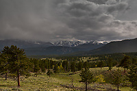 Spring storm clouds. Rocky Mountain National Park. Image taken with a Nikon D2xs camera and 17-55 mm f/2.8 lens (ISO 100, 17 mm, f/5, 1/800 sec).