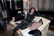 CHARLES SEBLINE;; Hamlton-Paris host a trunk show for Autumn/Wnter 2010. The Connaught. Carlos Place. Mayfair. London W1. 23 March 2010.