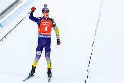 March 10, 2019 - –Stersund, Sweden - 190310 Dmytro Pidruchnyi of Ukraine celebrates at the final stretch during the Men's 12,5 km Pursuit during the IBU World Championships Biathlon on March 10, 2019 in Östersund. 10, 2019 in Östersund..Photo: Johan Axelsson / BILDBYRÃ…N / Cop 245 (Credit Image: © Johan Axelsson/Bildbyran via ZUMA Press)