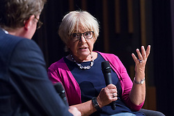 © Licensed to London News Pictures. 02/09/2018. London, UK.  Dame Margaret Hodge MP in conversation with Jonathan Freedland at the Jewish Labour Movement Conference 2018..  Photo credit: Vickie Flores/LNP