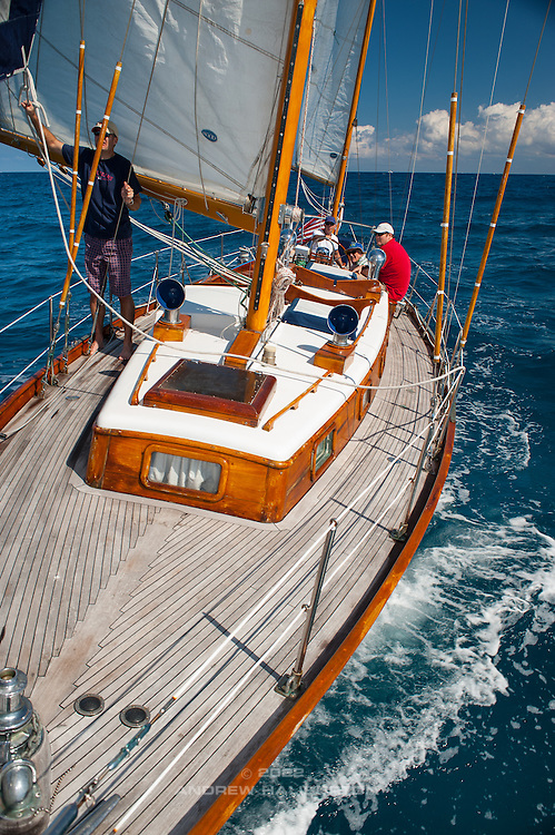 Great day sailing on this 1966 Rhodes Reliant 41 named Nirvana,  Palm Beach, Florida.