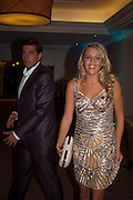 LYDIA BRIGHT; JAMES ARGENT, The London Bar and Club awards. Intercontinental Hotel. Park Lane, London. 6 June 2011. <br /> <br />  , -DO NOT ARCHIVE-© Copyright Photograph by Dafydd Jones. 248 Clapham Rd. London SW9 0PZ. Tel 0207 820 0771. www.dafjones.com.