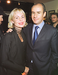 Photographer AMANDA ELIASCH and her husband JOHAN ELIASCH, at an exhibition in London on 16th February 1999.MOK 2