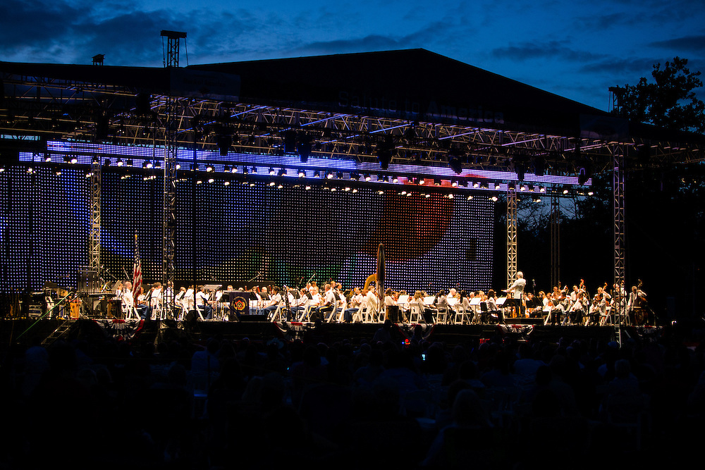 The Detroit Symphony Orchestra performing at the annual Salute to America at Greenfield Village. Event Photography by KMS Photography