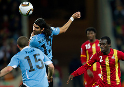 Sebastian Abreu of Uruguay during to the 2010 FIFA World Cup South Africa Quarter Finals football match between Uruguay and Ghana on July 02, 2010 at Soccer City Stadium in Sowetto, suburb of Johannesburg. (Photo by Vid Ponikvar / Sportida)
