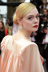 May 14, 2019: Cannes, France: Actress ELLE FANNING arrives wearing a pink Gucci gown for 'The Dead Don't Die' premiere during the 72nd Cannes Film Festival. (Credit Image: © Alberto Terenghi/IPA via ZUMA Press)