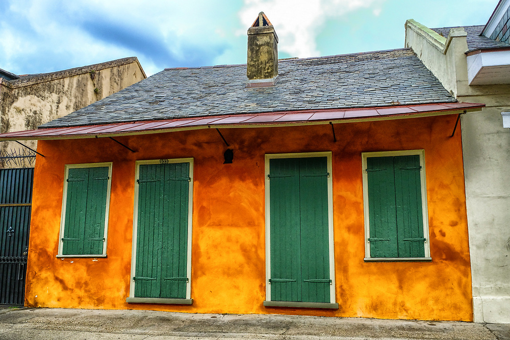 A beautiful row house in The French Quarter.