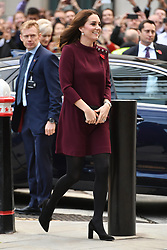The Duchess of Cambridge attends Place2Be's School Leaders Forum at UBS, Broadgate Circle, London, UK, on the 8th November 2017. 08 Nov 2017 Pictured: The Duchess of Cambridge attends Place2Be's School Leaders Forum at UBS, Broadgate Circle, London, UK, on the 8th November 2017. Picture by James Whatling. Photo credit: James Whatling / MEGA TheMegaAgency.com +1 888 505 6342