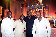 l to r: Derrin Woodhouse, Eugen Caldwell, Wayne Brooks and Chauncy Hamelett at the Grey Goose and BET Presents ' Rising Icons ' featuring Wale held at BET Studios on July 28, 2009 in New York City