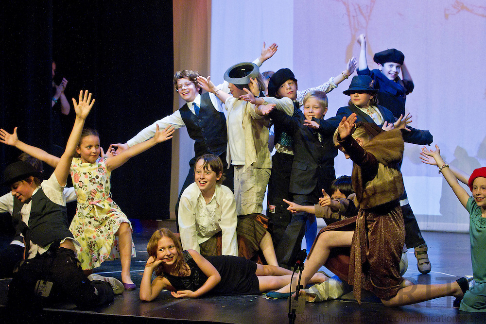 WEZEMBEEK-OPPEM - BELGIUM - 20 MAY 2010 -- - Children from the International Montessori School in Brussels at the annual theatre performance at the Cultural Centre 'De Kam', Wezembeek-Oppem, just outside Brussels. PHOTO: ERIK LUNTANG / INSPIRIT Photo.
