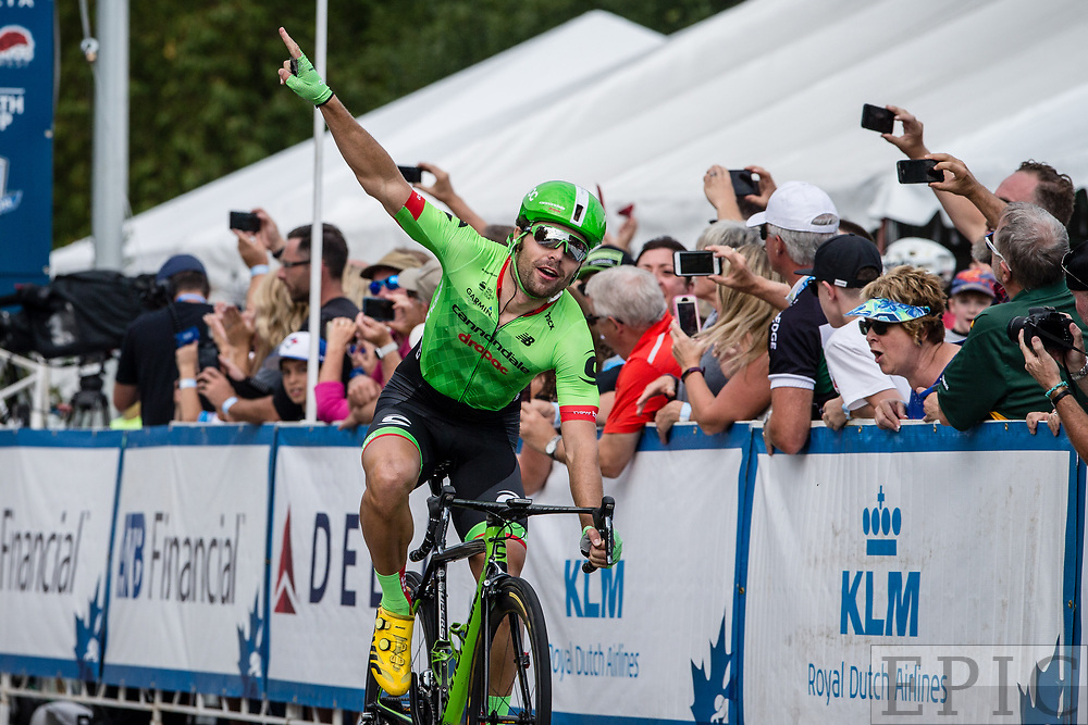 SPRUCE GROVE, ALBERTA, CAN - September 2: Wouter Wippert (Cannondale-Drapac) wins stage 2 of the Tour of Alberta on September 2, 2017 in Spruce Grove, Canada. (Photo by Jonathan Devich)