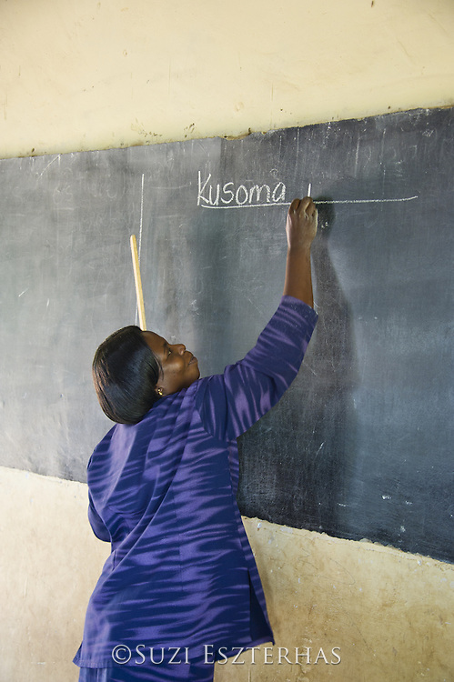 Teacher at Kasiisi School <br /> Funded by the Kasiisi School Project<br /> Just outside of Kibale National Park, Uganda