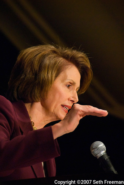 Nancy Peloski, Speaker of the House (D-CA )at the Democratic National Committee Meeting, McLean, VA 11/30/07