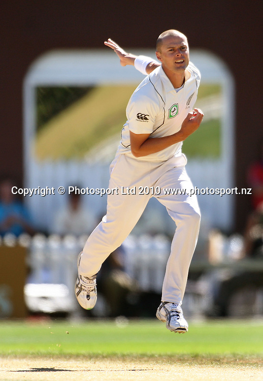 NZ bowler Chris Martin.<br /> 1st cricket test match - New Zealand Black Caps v Australia, day five at the Basin Reserve, Wellington. Tuesday, 23 March 2010. Photo: Dave Lintott/PHOTOSPORT