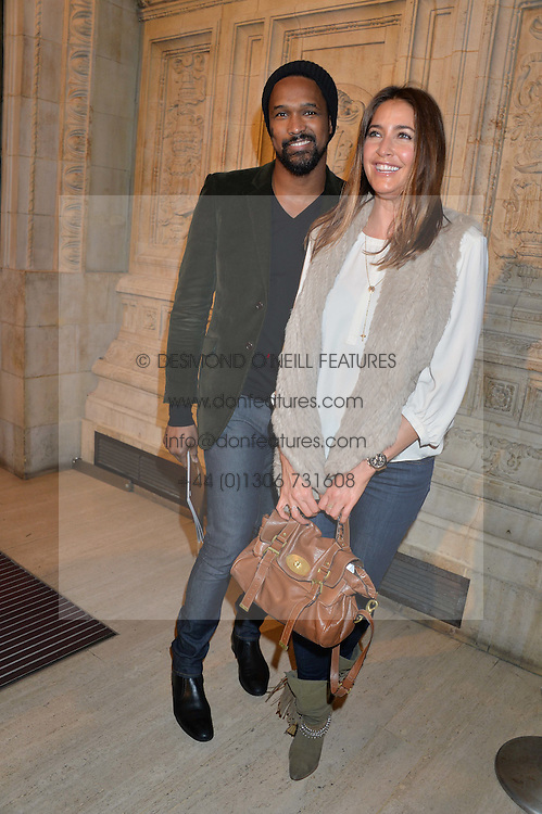 TIM WADE and LISA SNOWDON at the opening night of Cirque du Soleil's award-winning production of Quidam at the Royal Albert Hall, London on 7th January 2014.