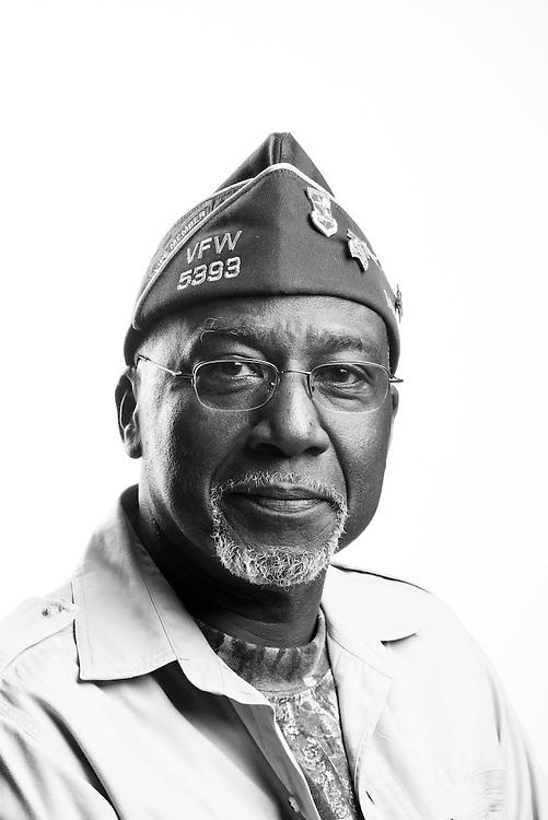 Ayodele Okanlawon<br /> Army<br /> E-5<br /> Gunner<br /> Aug. 1963 - Dec. 1966<br /> Vietnam<br /> <br /> Veterans Portrait Project<br /> St. Louis, MO