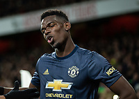 Football - 2018 / 2019 FA Cup - Fourth Round: Arsenal vs. Manchester United <br /> <br /> Paul Pogba (Manchester United) at The Emirates Stadium.<br /> <br /> COLORSPORT/DANIEL BEARHAM
