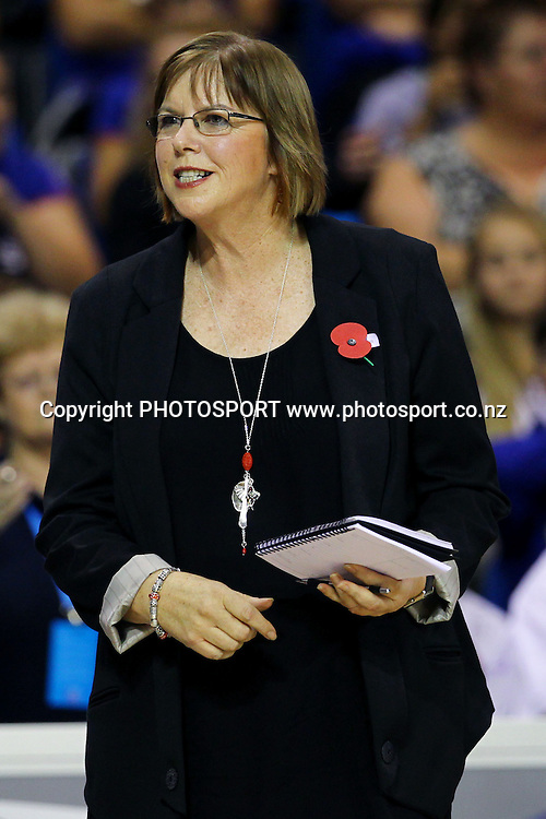 Mystics' Head Coach Ruth Aitken. ANZ Netball Championship, Northern Mystics v Central Pulse, Trusts Stadium, Auckland, New Zealand. Sunday 21st April 2013. Photo: Anthony Au-Yeung / photosport.co.nz