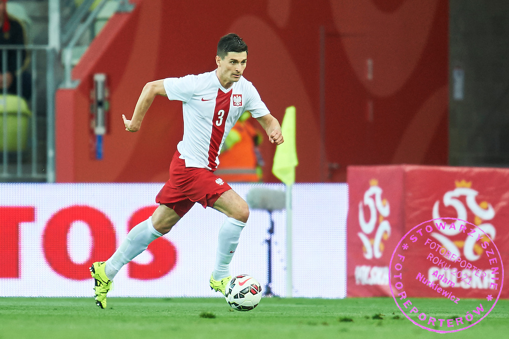 Marcin Komorowski from Poland controls the ball during international friendly soccer match between Poland and Greece at PGE Arena Stadium on June 16, 2015 in Gdansk, Poland.<br /> Poland, Gdansk, June 16, 2015<br /> <br /> Picture also available in RAW (NEF) or TIFF format on special request.<br /> <br /> For editorial use only. Any commercial or promotional use requires permission.<br /> <br /> Adam Nurkiewicz declares that he has no rights to the image of people at the photographs of his authorship.<br /> <br /> Mandatory credit:<br /> Photo by &copy; Adam Nurkiewicz / Mediasport
