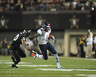 Mississippi's Laquon Treadwell (1) vs. Vanderbilt's Larry Franklin (30) in Nashville, Tenn. on Thursday, August 29, 2013. Ole Miss won 39-35.