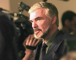 File photo - Burt Reynolds meets the press upon arriving at the Palm Beach International Film Festival Friday night at the Boca Raton Hotel and Club in April 1998. 1970s' movie heartthrob and Oscar nominee Burt Reynolds has died at the age of 82. He reportedly passed away in a Florida hospital from a heart attack with his family by his side. Photo by Mark Randall/Sun Sentinel/TNS/ABACAPRESS.COM