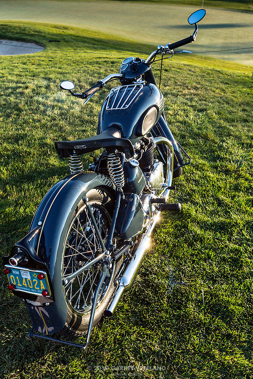 1950 Triumph Thunderbird, in the early morning pre-show, at the 2012 Santa Fe Concorso.