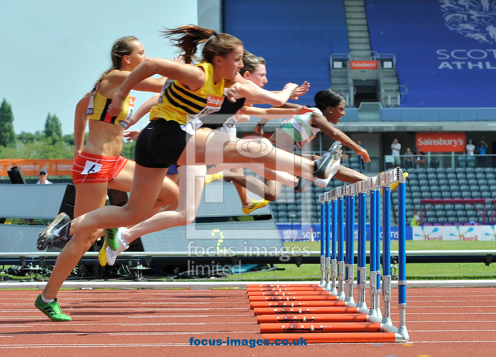 Picture by Alan Stanford/Focus Images Ltd +44 7915 056117<br /> 12/07/2013<br /> Tiffany Porter (GBR) 100m Hurdles pictured during her heat on day two of Sainsbury's British Championship at Alexander Stadium, Birmingham.