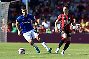 Morgan Schneiderlin (18) of Everton gets past Harry Wilson (22) of AFC Bournemouth during the Premier League match between Bournemouth and Everton at the Vitality Stadium, Bournemouth, England on 15 September 2019.