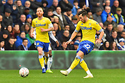 Jack Harrison (22) of Leeds United passes the ball during the The FA Cup 3rd round match between Queens Park Rangers and Leeds United at the Loftus Road Stadium, London, England on 6 January 2019.
