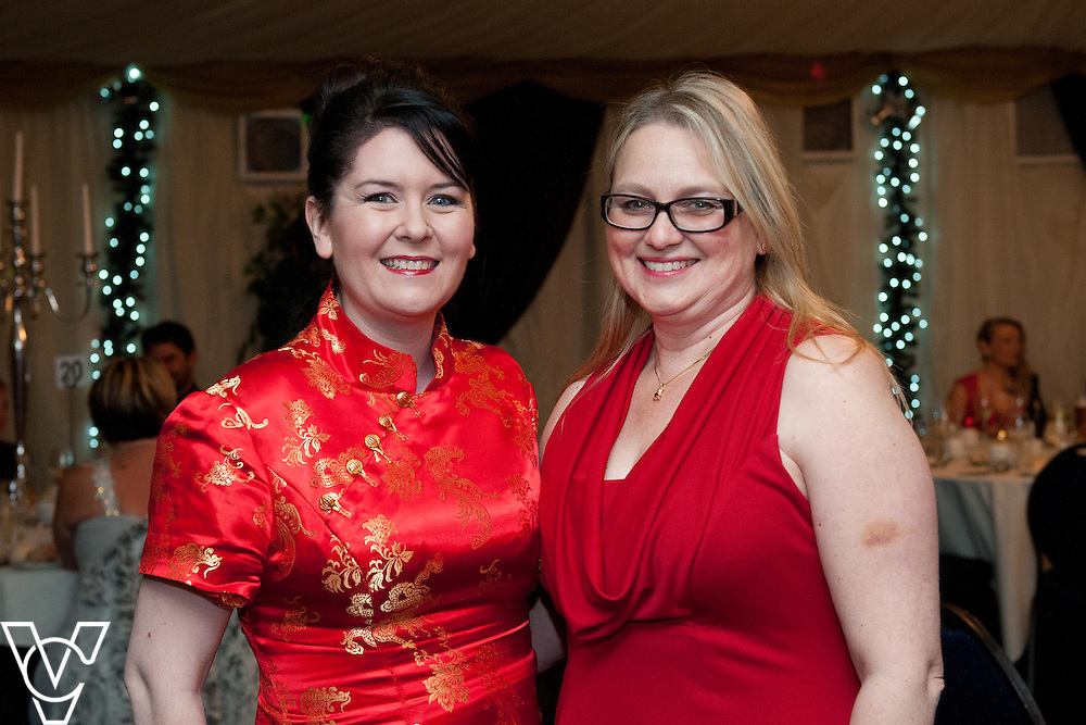Lincoln Journal society pictures: Samantha Bertins and Sarah Beresford<br /> <br /> An annual ball, this year themed the Bauble Ball, has taken place at Jocastas, to raise money for the Lincoln St Christopher's School.<br /> <br /> Date: November 28, 2015<br /> Picture: Chris Vaughan/Chris Vaughan Photography