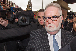 © Licensed to London News Pictures . 07/05/2014 . Leeds , UK . PAUL FLOWERS arrives at Leeds Magistrates Court this morning (7th May 2014) . The former Co-operative Bank chairman is charged with two counts of possession of Class A drugs - cocaine and methamphetamine - and one count of possession of the Class C drug , ketamine . He is currently suspended from his position as a Methodist Minister and also from the Labour Party . Also charged is relation to Flowers is Gavin Woroniuk , 33 , of Mitford Road, Leeds, who faces four counts of offering to supply controlled drugs and one count of possession of criminal property . Photo credit : Joel Goodman/LNP