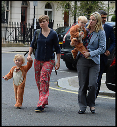 Page boys arriving at the wedding of Poppy Delevingne to James Cook at St.Paul's Church in Knightsbridge, London,  Friday, 16th May 2014. Picture by Andrew Parsons / i-Images