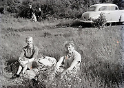 family on a day trip in Holland 1950s