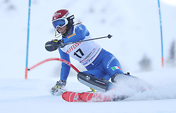 28.01.2018, Lenzerheide, SUI, FIS Weltcup Ski Alpin, Lenzerheide, Slalom, Damen, 1. Lauf, im Bild Irene Curtoni (ITA) // Irene Curtoni of Italy in action during her 1st run of ladie's Slalom of FIS ski alpine world cup in Lenzerheide, Austria on 2018/01/28. EXPA Pictures © 2018, PhotoCredit: EXPA/ Sammy Minkoff<br /> <br /> *****ATTENTION - OUT of GER*****