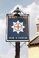 Star & Garter Pub Sign, Tonbridge, Kent, Britain