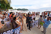 Ko Lipe, Thailand. A wedding party at Pattaya beach.