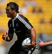 Victor Vito beats a Wales defender to score.<br /> NZ v Wales. NZI Wellington Sevens, Day Two. Westpac Stadium, Wellington. 2 February 2008. Photo: Dave Lintott/PHOTOSPORT