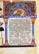 St Eusebius. From Epistle of Eusebius to Carpianus.13th century Armeniasn manuscript.