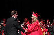 Chelsea Taylor Walters receives her diploma during the 102nd commencement of West Carrollton High School at the Schuster Center in downtown Dayton, Thursday, May 24, 2012.