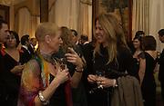 Sarah Kent and Zeynep Fadillioglu. Dinner at the Italian Embassy in which the winner of the MaxMara Art Prize for Women is announced. Grosvenor Sq. London . 2 February  2006. © Copyright Photograph by Dafydd Jones 66 Stockwell Park Rd. London SW9 0DA Tel 020 7733 0108 www.dafjones.com