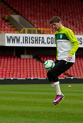 Milivoje Novakovic during practice session of Slovenia National football team One day before EURO 2012 Quaifications game between National teams of Slovenia and Northern Ireland, on March 28, 2011, in Windsor Park Stadium, Belfast, Northern Ireland, United Kingdom. (Photo by Vid Ponikvar / Sportida)