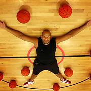 John Amaechi at the Amaechi Basketball Center where he has established an academy.