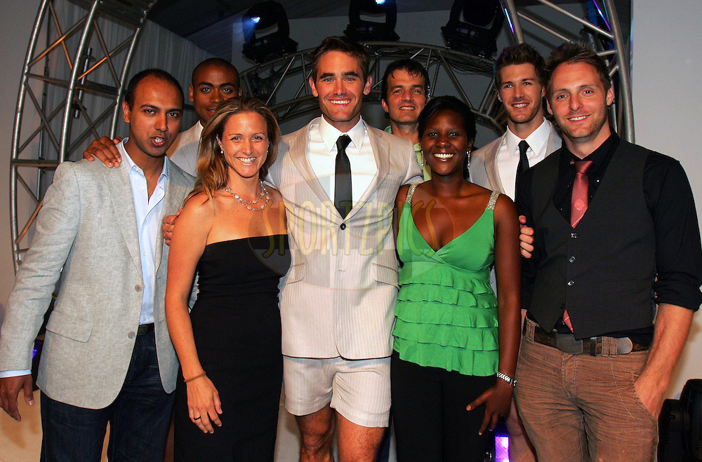 CAPE TOWN, SOUTH AFRICA - 30 October Brendan Currin Winner of the Men's Health Look 2008 pictured with the Men's Health Team during the Men's Health Look 2008 final held at The V&A Waterfront in Cape Town, South Africa..Photo by: Ron Gaunt