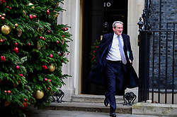 © Licensed to London News Pictures. 04/12/2018. LONDON, UK. Damian Hinds MP, Secretary of State for Education, leaves the weekly Cabinet Meeting at Number 10 Downing Street in London, Britain, on December 4, 2018.  John Bercow, Speaker of the House, has stated that the government may be in contempt of Parliament for declining to release its full legal advice on Britain's exit from the European Union.  This issue is to be debated in the House of Commons after the Cabinet Meeting and will delay the start of MP's debating Theresa May's Brexit agreement with the European Union, ahead of their vote on December 11.  Photo credit: Stephen Chung/LNP