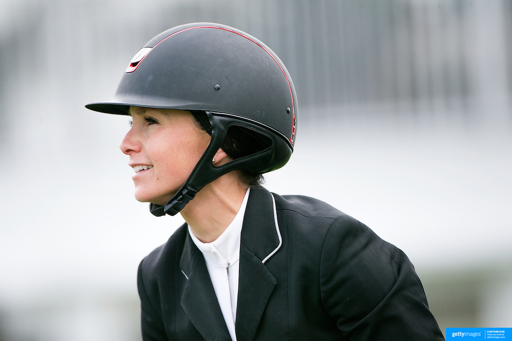 NORTH SALEM, NEW YORK - May 15: Georgina Bloomberg, USA, riding Washington Square, in action during The $50,000 Old Salem Farm Grand Prix presented by The Kincade Group at the Old Salem Farm Spring Horse Show on May 15, 2016 in North Salem. (Photo by Tim Clayton/Corbis via Getty Images)