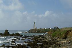 CA: Pigeon Point, California, lighthouse 2005 .Image: capigeon112.Photo Copyright: Lee Foster, lee@fostertravel.com, www.fostertravel.com, (510) 549-2202..