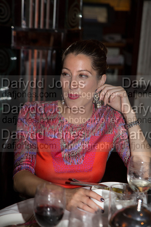 PRINCESS TAMARA CZARTORYSKI; IAN PENMAN, Dinner in aid of the China Tiger Revival hosted by Sir David Tang and Stephen Fry  at China Tang, Park Lane, London. 1 October 2013. ,